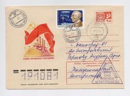 ANTARCTIC Molodezhnaya Station 23 SAE Base Pole Mail Cover USSR RUSSIA Airship Ship NAVY - Bases Antarctiques