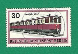 * 1971 N° 363 MOYENS DE TRANSPORTS BERLINOIS METRO 1932   OBLITÉRÉ TB BERLIN 11 - [5] Berlin