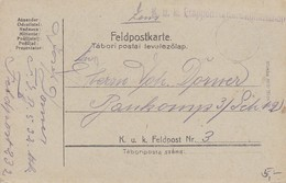 Feldpostkarte K.u.k. Etappenstationskommando Nach Baukomp 3/Sch 12 - Feldpost 3 - 1917 (38798) - 1850-1918 Imperium
