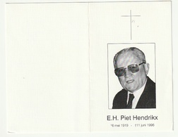 Dp. Piet HENDRIKX Priester Bisdom Hasselt Mechelen A/d/ Maas Luik Houthalen Zonhoven Terdonk Oostham Paal Leuven 1996 - Images Religieuses