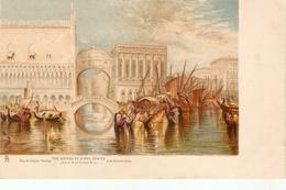 """J.M.W.Turner. The Bridge Of Sights Venice"" Tuck Art Connoisseur  Turner's Venice Ser. PC # 2515 - Tuck, Raphael"