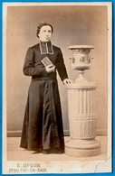 PHOTO Photographie CDV E. OPSOIR 76 St SAINT-VALERY-en-CAUX - Ecclésiastique Prélat Curé Abbé Religion Catholique - Old (before 1900)