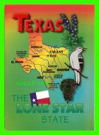 MAPS, CARTES GÉOGRAPHIQUES - TEXAS, THE LONE STAR STATE - SMITH-SOUTHWESTERN INC - - Cartes Géographiques