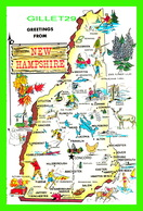 MAPS, CARTES GÉOGRAPHIQUES - NICKNAME,GRANITE STATE - THE WILLIAM SHEEHAN CO - - Cartes Géographiques