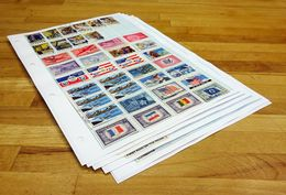 USA Mid Period To Modern, Air Mail, Christmas Stamps, Etc On Pages. - Etats-Unis