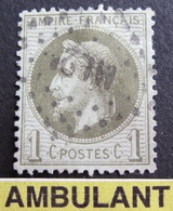 """DF50478/71 - NAPOLEON III Lauré N°25 - Cachet AMBULANT """" ML 2° """" - 1863-1870 Napoléon III Lauré"""