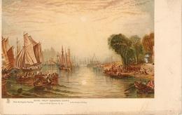 """J.M.W.Turner. Royal Yatch Sauadron. Cowes"" Tuck Art Connoisseur  Turner's Venice Ser. PC # 2515 - Tuck, Raphael"