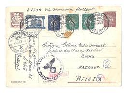 PORTUGAL « LISBONNE » CPE Ordinaire  - Tarif P.A. « BELGIQUE » à 2 Scudo 80 E.P. CP Illustrée Couleur - 30c  Caravelle - Ganzsachen