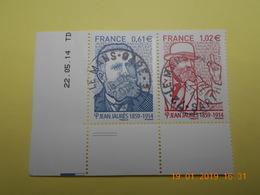 FRANCE 2014   YTN° 4869-4870  JEAN JAURES (1859-1914)   TN Oblitérés  Daté - France