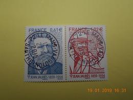 FRANCE 2014   YTN° 4869-4870  JEAN JAURES (1859-1914)   TN Oblitérés - France