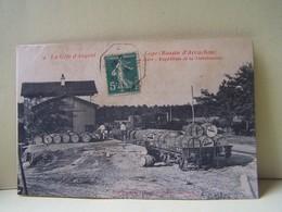 LEGE (GIRONDE) IFGNAC. LES TRAINS. GARE. EXPEDITION DE LA THEREBENTINE. - France
