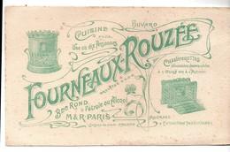 Buvard Fourneaux-Rouzée Bec Rond Pétrole Ou Alcool M&R Paris Chaufferettes Cuisine - Buvards, Protège-cahiers Illustrés