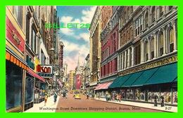 BOSTON, MA - WASHINGTON STREET DOWNTOWN SHOPPING DISTRICT - ANIMATED - - Boston