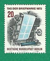 * 1972 N° 404 JOURNÉE DU TIMBRE ROTATIVE D'IMPRESSION DES TIMBRES  OBLITÉRÉ TB - [5] Berlin