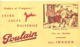 Buvard Poulain Tous Nos Chocolats Contiennent Des Images Maître Pierre - Chocolat