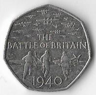 United Kingdom 2015 Battle Of Britain New Head 50p (B) [C91/1D] - 1971-… : Decimal Coins