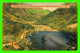 WHITE MOUNTAINS, NH - ECHO LAKE FROM ARTIST'S BLUFF, FRANCONIA NOTCH - - White Mountains