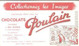 Buvard Poulain Collectionnez Les Images Pour Que ça Me Donne Du Courage - Chocolat