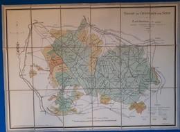 Carte: Massif De Chatillon Sur Seine - 1925: - Cartes Routières