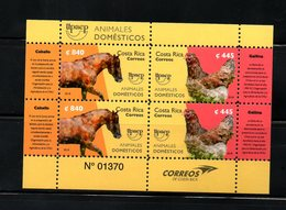 COSTA RICA, 2018 , HORSE, HEN, UPAEP, M/S,  MNH**NEW!! - Stamps