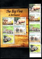 BOTSWANA, 2018 , BIG 5, ANIMALS, 5v+ S/S  MNH**, NEW!! - Stamps