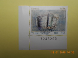 FRANCE 2014   YTN° 4888   Jean FAUTRIER (1898-1964)   TN Oblitéré  Numéroté - France