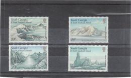 M17 - SOUTH GEORGIA - SOUTH SANDWICH ISLANDS - 192 / 195 **de 1989  - Formation Des Glaciers - - Géorgie Du Sud