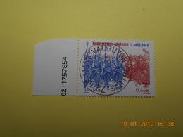 FRANCE 2014   YTN° 4889   CENTENAIRE DE LA MOBILISATION GENERALE  TN Oblitéré  Numéroté - France
