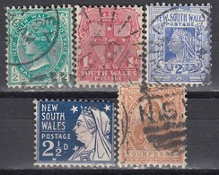 NSW 1897 - MiNr: 81-83+85-86  Wz7  Used - 1850-1906 New South Wales