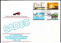 ZIMBABWE (1986) Southern African Development Coordination Conference. Unaddressed FDC.  Scott Nos 525-8. - Zimbabwe (1980-...)