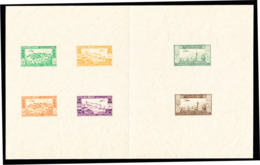 LEBANON (1943) Aerial View Of Various Cities. Booklet Of 6 Die Proofs Of 2nd Independence Issue. Scott Nos C82-7 - Liban