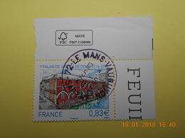 FRANCE 2014   YTN° 4902   TRICENTENAIRE DU PALAIS DE DOUAI   TN Oblitéré Coin De Feuille - France