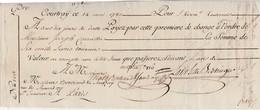 Lettre De Change 1782 / Première 6000 Livres Tournois / Courtray ( Belgique ?) - 1774-1791 Louis XVI