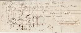 Lettre De Change 1789 / Première 800 Livres Tournois / Nantes - 1774-1791 Louis XVI
