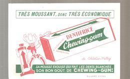 Buvard CHEWING-GUM Très Moussant, Donc Très économique Dentifrice Chewing-gum - Chemist's