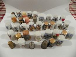 Lot De Dés A Coudre Porcelaine De Collection - Ditali Da Cucito