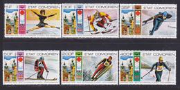 COMORES N° 138 à 141, AERIENS 101 & 102 ** MNH Neufs Sans Charnière D8237) Jeux Olympiques D'hiver Innsbruck -1976 - Comoros
