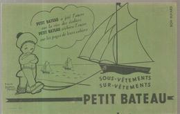 Buvard PETIT BATEAU à Jeté L'ancre Sur La Rive Des écoliers - Textile & Clothing