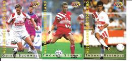 BL18 - PANINI KARTEN 1995 -  VFB STUTTGART - GUIDO BUCHWALD - THOMAS STRUNZ - THOMAS BERTHOLD - Trading-Karten