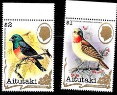 Aitutaki Scott  246A & 246B  VF Mint NH   Birds  CV 15.00 - Aitutaki
