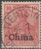 Germania Cina 1901 10(pf) MiN°17 (o) - Ufficio: Cina