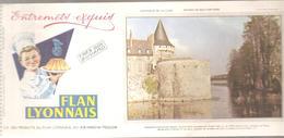 Buvard FLAN LYONNAIS Château De Sully Sur Loire - Produits Laitiers