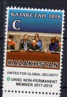 KAZAKHSTAN, 2018, MNH,UN, NON-PERMANENT MEMBER OF UN SECURITY COUNCIL, 1v - ONU