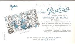 Buvard POULAIN Chansons De France Meunier Tu Dors - Chocolat
