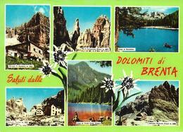 Saluti Dalle Dolomiti Di Brenta - Rifugio S. Agostini - Lago Di Nambino - Rifugio Tuchet - Rifugio Pedrotti (Tosa)... - Italia