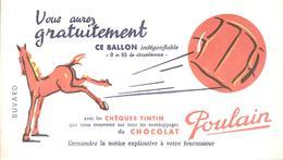 Buvard POULAIN Vous Aurez Gratuitement Ce Ballon Indégonflable - Chocolat