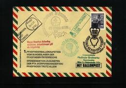Austria / Oesterreich 1971 Scouting / Pfadfinder Ballonpost Interesting Cover - Scoutisme