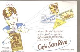 Buvard Café San-Rivo XX ème Anniversaire - Café & Thé