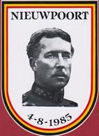 Sticker Autocollant Nieuwpoort Koning Albert I Belgium King Roi Monarchy Royalty Monarchie 1985 Aufkleber Adesivo - Autocollants