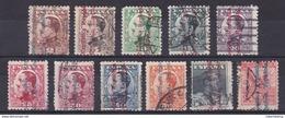 ESPAÑA 1931 - Alfonso XIII Sobrecargados Serie Usada Edifil Nº 593/603 - 1931-Aujourd'hui: II. République - ....Juan Carlos I